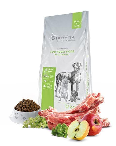 Starvita Granule pro dospělé psy jehněčí 12kg