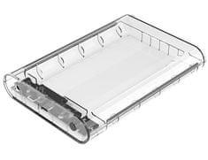 Orico zunanje ohišje za HDD/SSD diske 8,89 cm (3,5), USB-C 3.1, SATA 3, prozorno