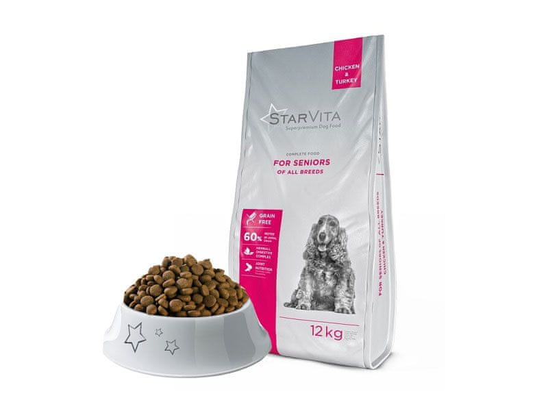 Starvita Granule pro starší psy 12kg