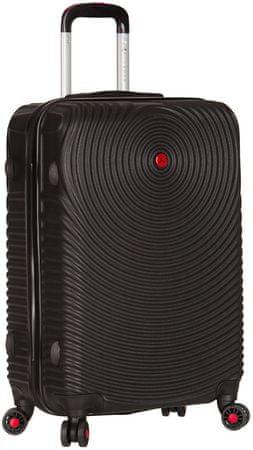 Sirocco potovalni kovček T-1157/3-L ABS, črn
