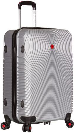 Sirocco potovalni kovček T-1157/3 M-ABS, srebrn