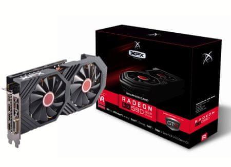 XFX grafična kartica Radeon RX580 8GB GDDR5 Black Edition OC