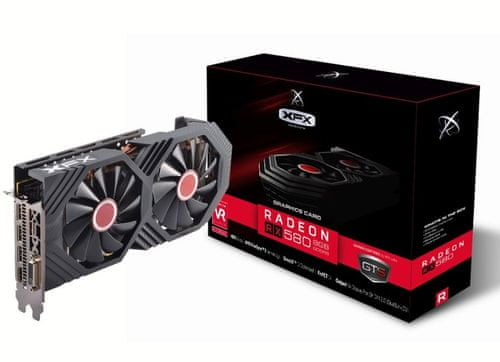 XFX   grafična kartica Radeon RX580 8GB GDDR5 Black Edition OC    mimovrste=)