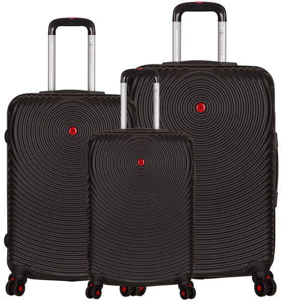 Sirocco T-1157/3 ABS Sada cestovních kufrů černá