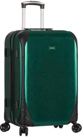 Sirocco potovalni kovček T-1159/3-M, zelen