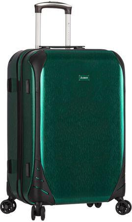 Sirocco potovalni kovček T-1159/3-L, zelen