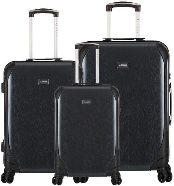 Sirocco T-1159/3 ABS Sada cestovních kufrů, černá