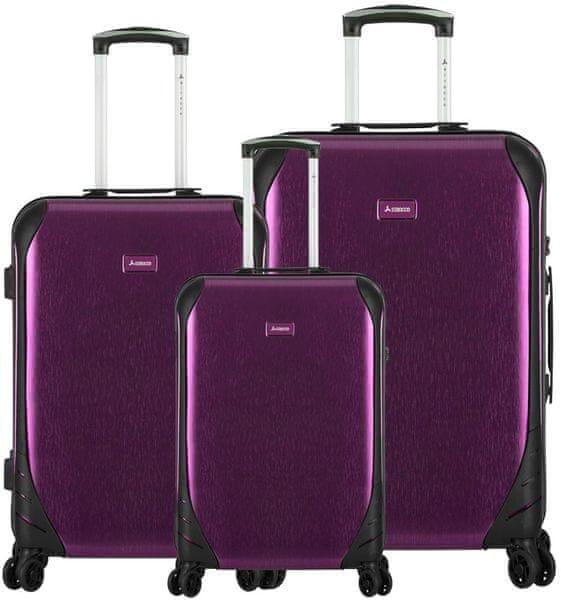Sirocco T-1159/3 ABS Sada cestovních kufrů, fialová