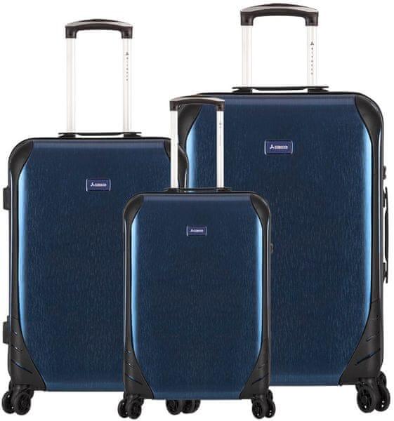 Sirocco T-1159/3 ABS Sada cestovních kufrů, modrá