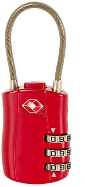 Rock Lankový TSA kódový zámek, červená
