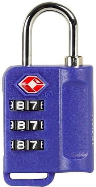 Rock Bezpečnostní TSA kódový zámek TA-0006, modrá
