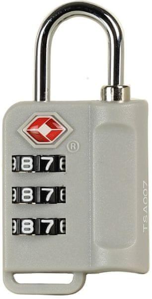 Rock Bezpečnostní TSA kódový zámek TA-0006, stříbrná