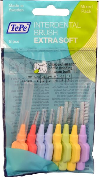 Tepe Mezizubní kartáčky Extra Soft Start Mix 8 ks