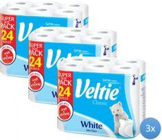 Veltie White toaletní papír 3 x 24 rolí