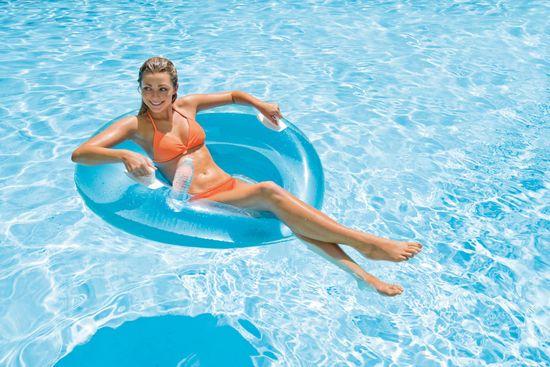 Intex plavajoči naslonjač Lounge, moder