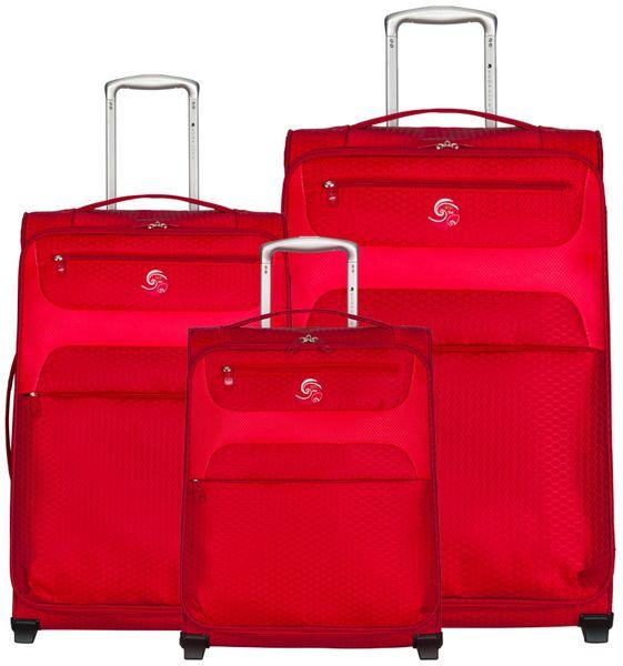 Eco-Lite T-1161/3 Sada cestovních kufrů, červená