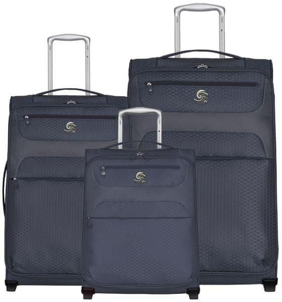 Eco-Lite T-1161/3 Sada cestovních kufrů, šedá