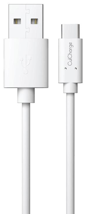 CulCharge datový kabel USB-C - USB, 1m, bílý