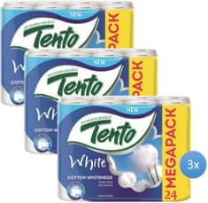 Tento white cotton whiteness papier toaletowy - 3x24 szt.