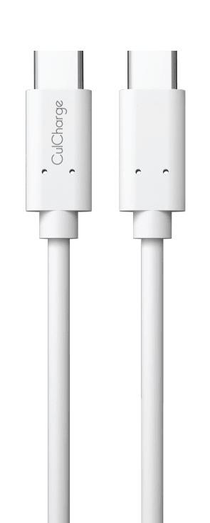 CulCharge datový kabel USB-C - USB-C, 1m, bílý