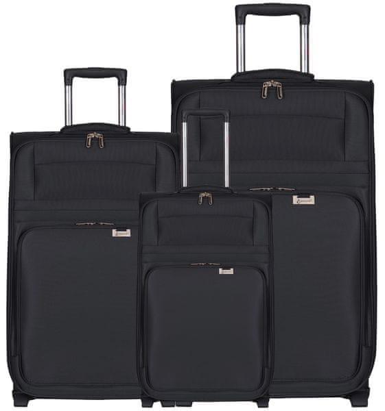 Aerolite T-9515/3 Sada cestovních kufrů, černá
