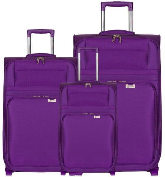 Aerolite T-9515/3 Sada cestovních kufrů, fialová