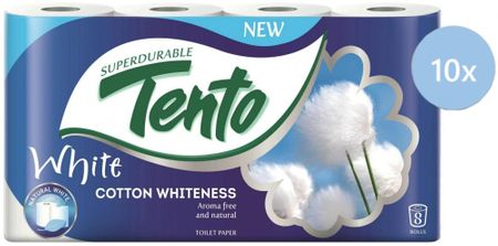 Tento White Cotton Whiteness 10 x 8 roliek