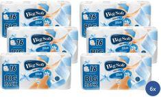 Big Soft Blue toaletní papír 3 vrstvý 6 x 16 rolí