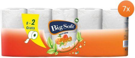 Big Soft Broskyňa toaletný papier 2 vrstvový 7 x 10 roliek