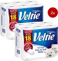 Veltie pure & soft white papier toaletowy 2x18 szt