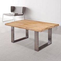 Klubska miza Hrast, inox