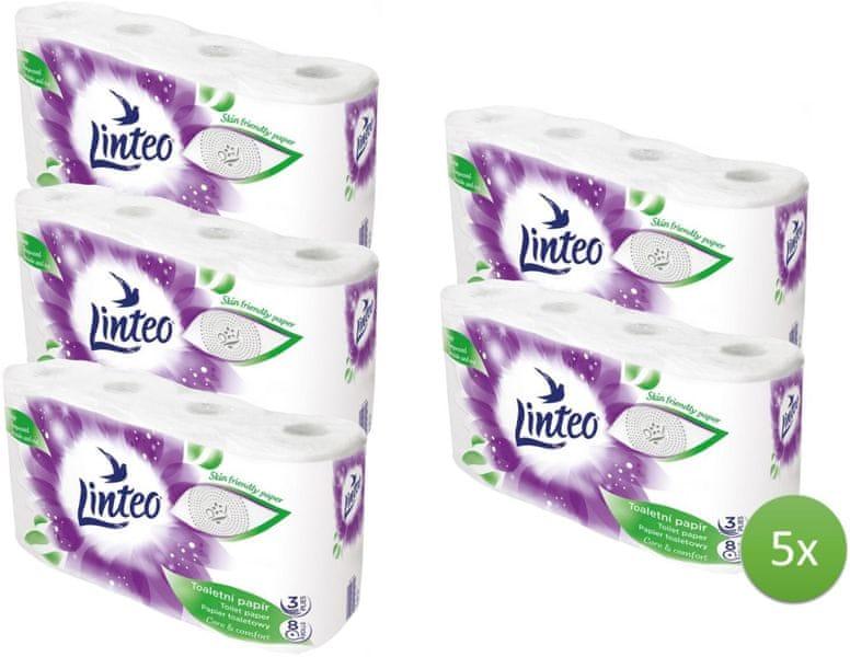 LINTEO Satin Toaletní papír 5 x 8 rolí