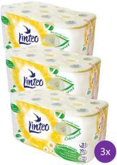 LINTEO Satin toaletni papir s kamilico, 3-slojni, 3 x 16 rolic