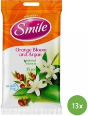SMILE vlažilni robčki Pomaranča, 13x15 kosov