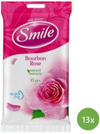 SMILE vlažilni robčki Bourbon, 13x15 kosov