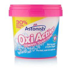 Astonish Oxi Active večnamensko čistilo v prahu za tkanine, 500 g