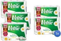 Veltie natural care papier toaletowy – 5x12 szt