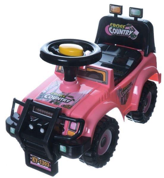 Teddies Odrážedlo auto Cross country růžové