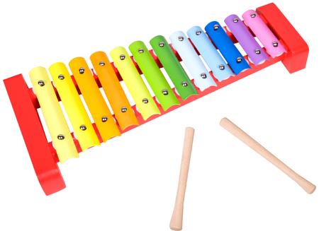 Teddies Xylofon dřevo/kov 36 cm