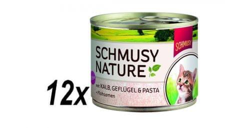 Schmusy Konzervy Nature 'Menu Junior teľacie + hydinu 12 x 190 g