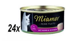 Finnern Miamor Csirke+sonk Macskaeledel, 24x100g
