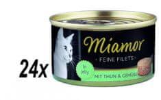Finnern mokra karma dla kota Miamor Filet z tuńczyka+warzywa 24x100g
