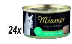 Finnern Miamorn macskakonzerv Tonhal filé + Rizs 24 x 100g
