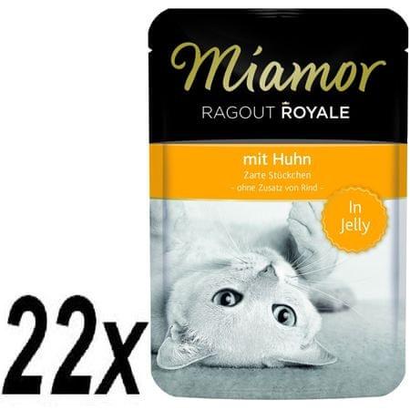 Finnern hrana za mačke Miamor, piščančji ragu, 22 x 100g