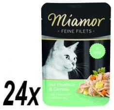 Finnern Kapsička Miamor Filet tuniak + zelenina 24 x 100g