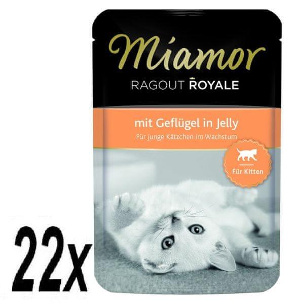 Finnern Kapsička Miamor Ragout Royale Kitten drůbež v želé 22 x 100g