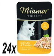 Finnern Miamor Csirke és tonhal filé, 24 x 100 g