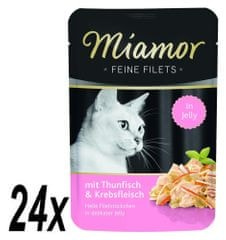 Finnern saszetki dla kota Miamor Filet z tuńczyka + Krab 24 x 100g