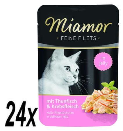 Finnern hrana za mačke Miamor tuna in rakci na žaru, 24 x 100 g
