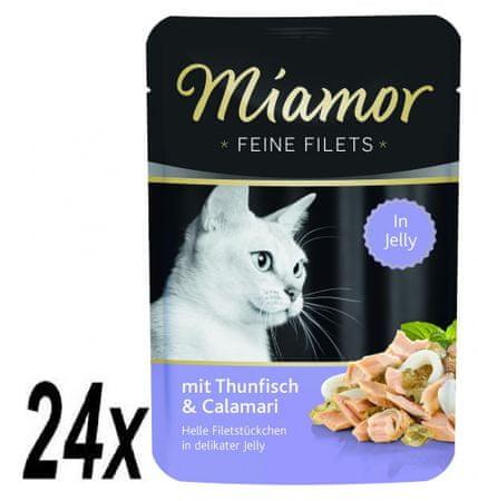 Finnern hrana za mačke Miamor tuna in lignji na žaru, 24 x 100 g